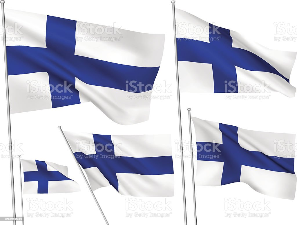 Finland vector flags royalty-free stock vector art