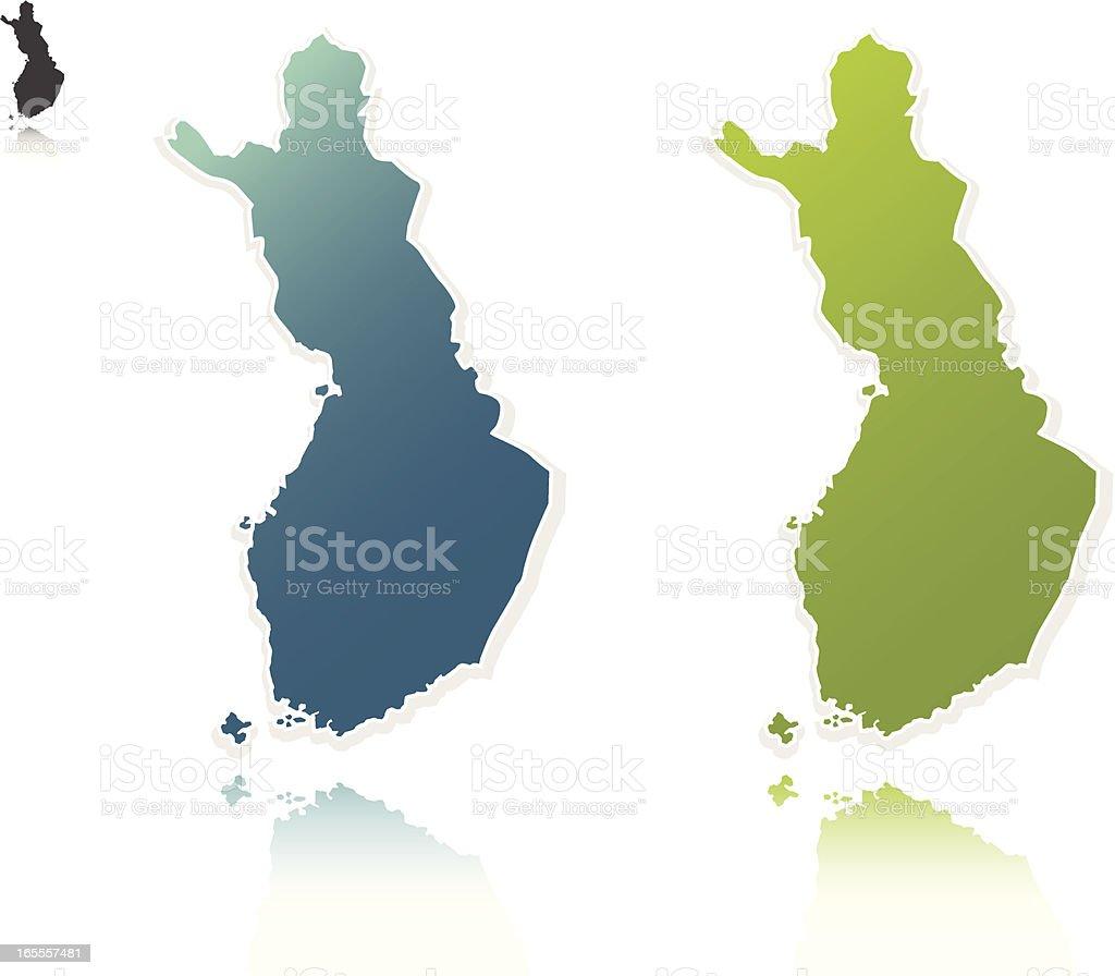 finland vector art illustration