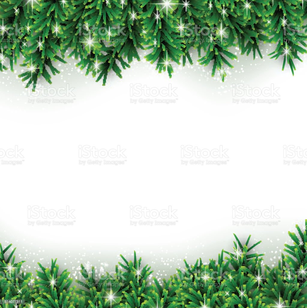 Fir christmas background. vector art illustration
