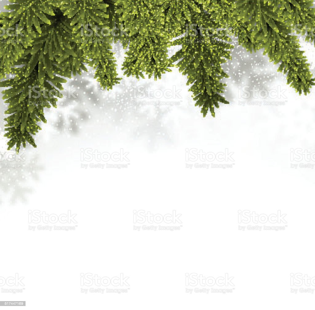 Fir christmas background. vector art illustration