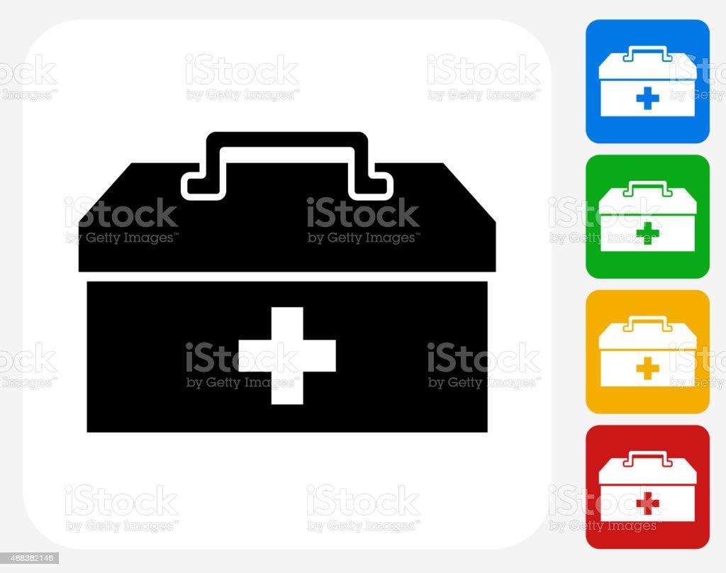Fir said Box Icon Flat Graphic Design vector art illustration