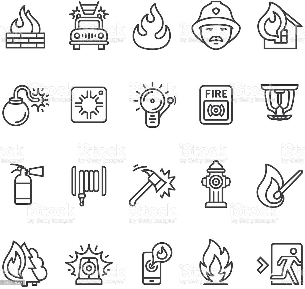 Fire alarm and department icon vector art illustration