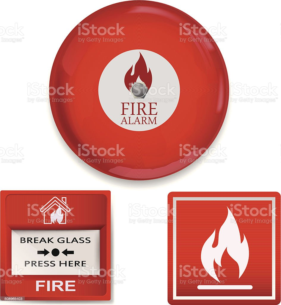 Fire alarm vector art illustration