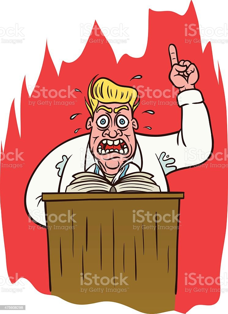 Fire And Brimstone vector art illustration