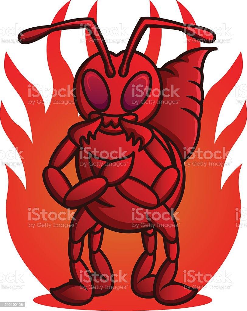 Fire Ant vector art illustration