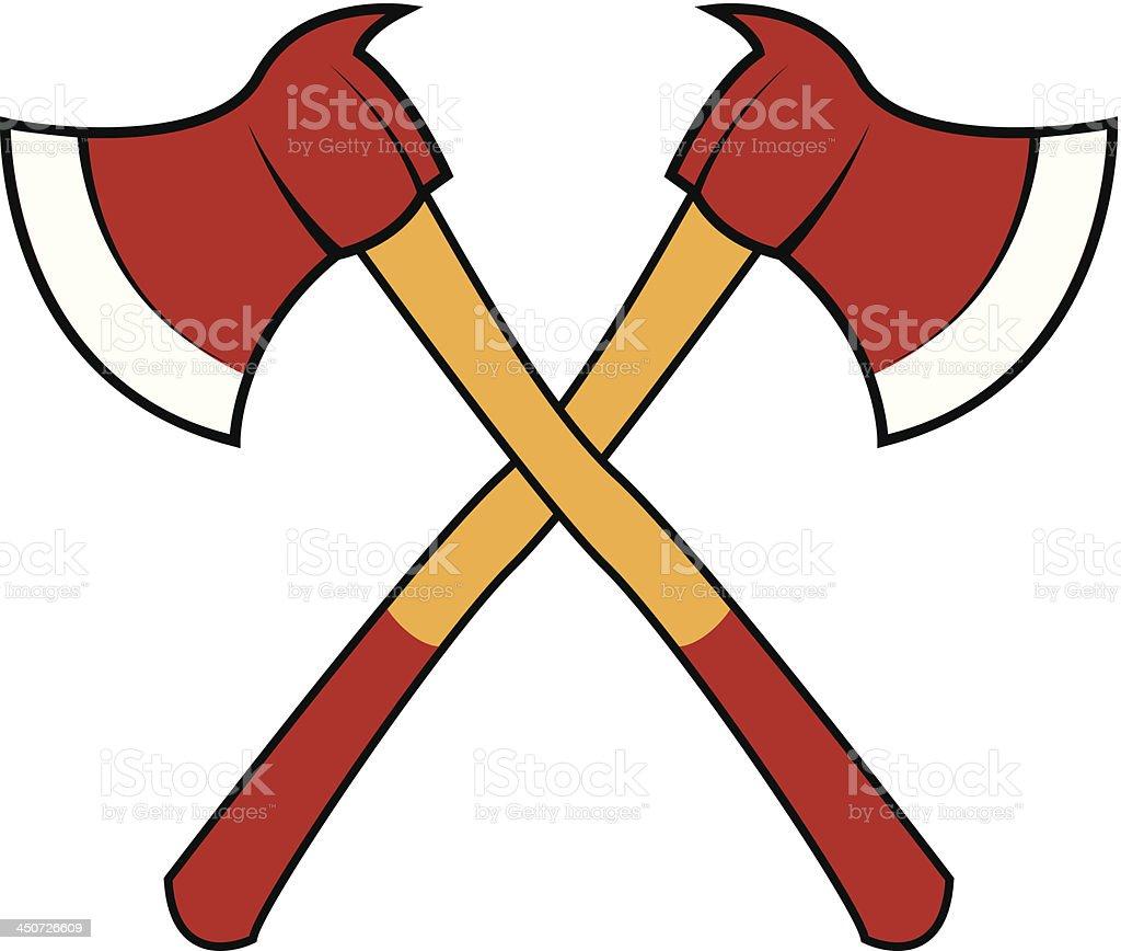 Fire axes royalty-free stock vector art