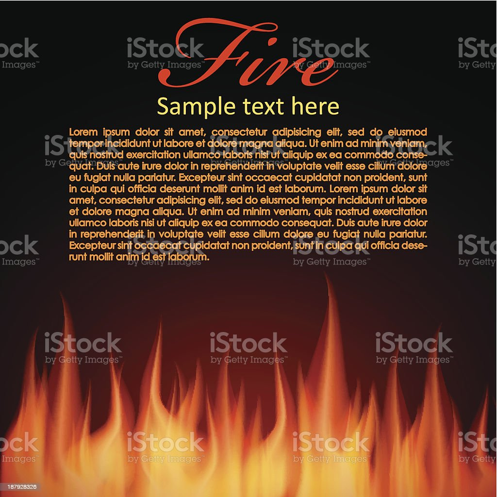 Fire background for your Design royalty-free stock vector art