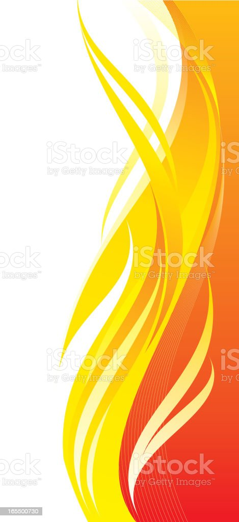 fire background vector art illustration