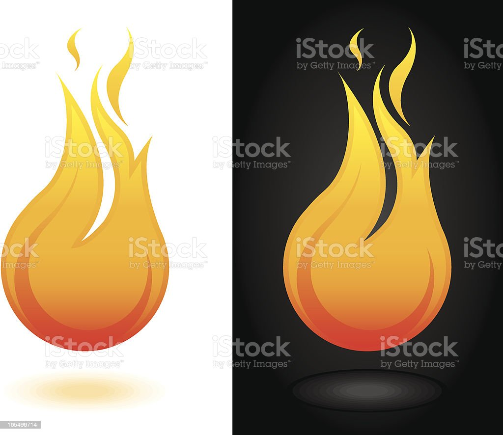 Fire Ball vector art illustration