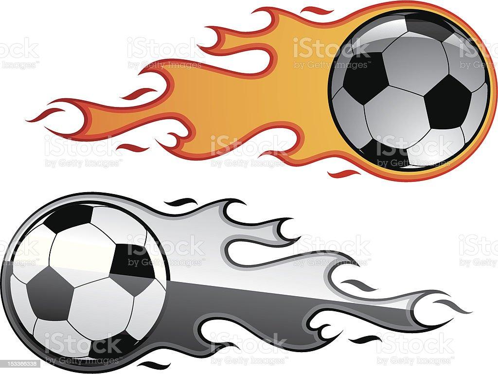 Fire balls vector art illustration