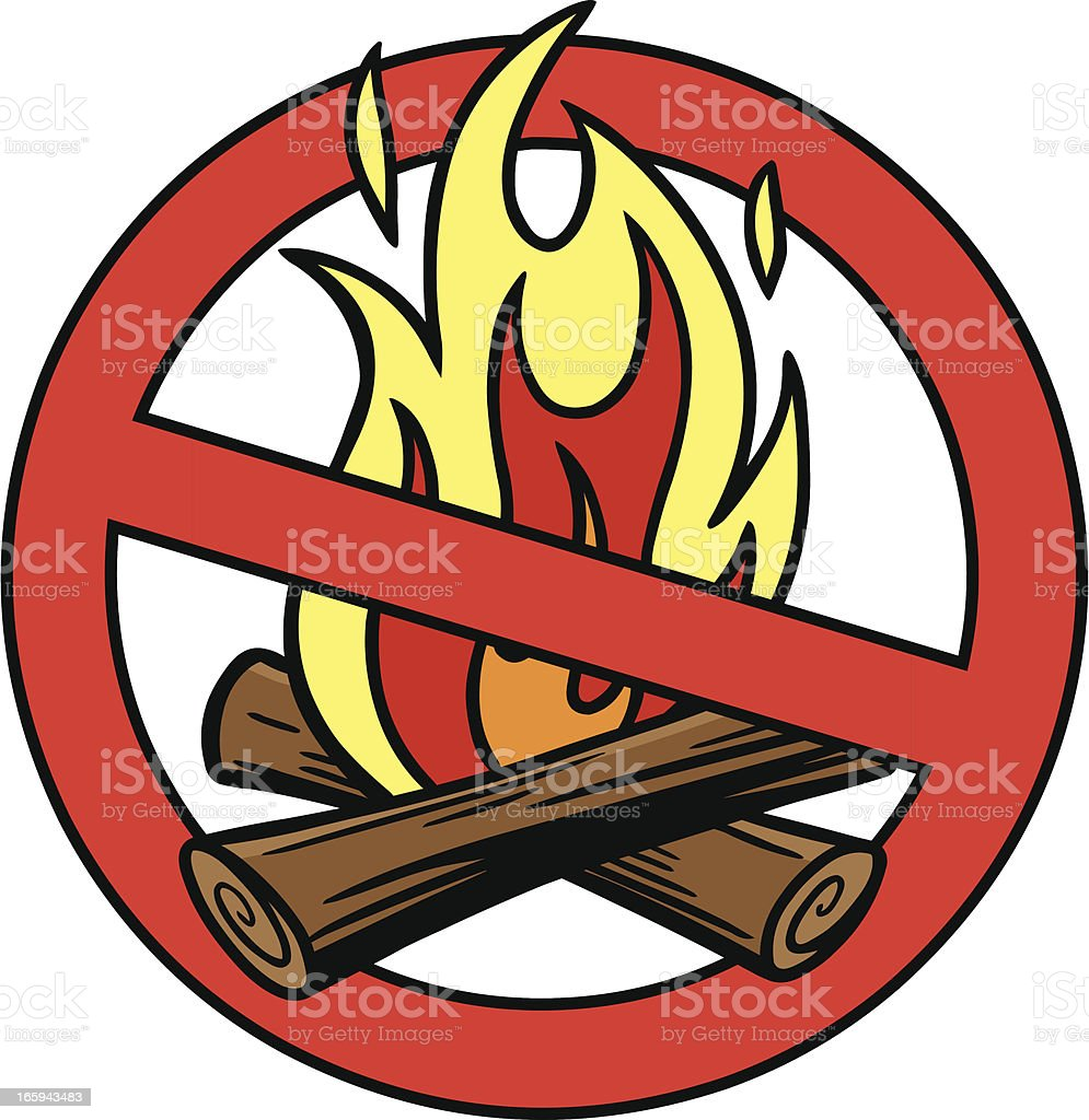 Fire Ban royalty-free stock vector art