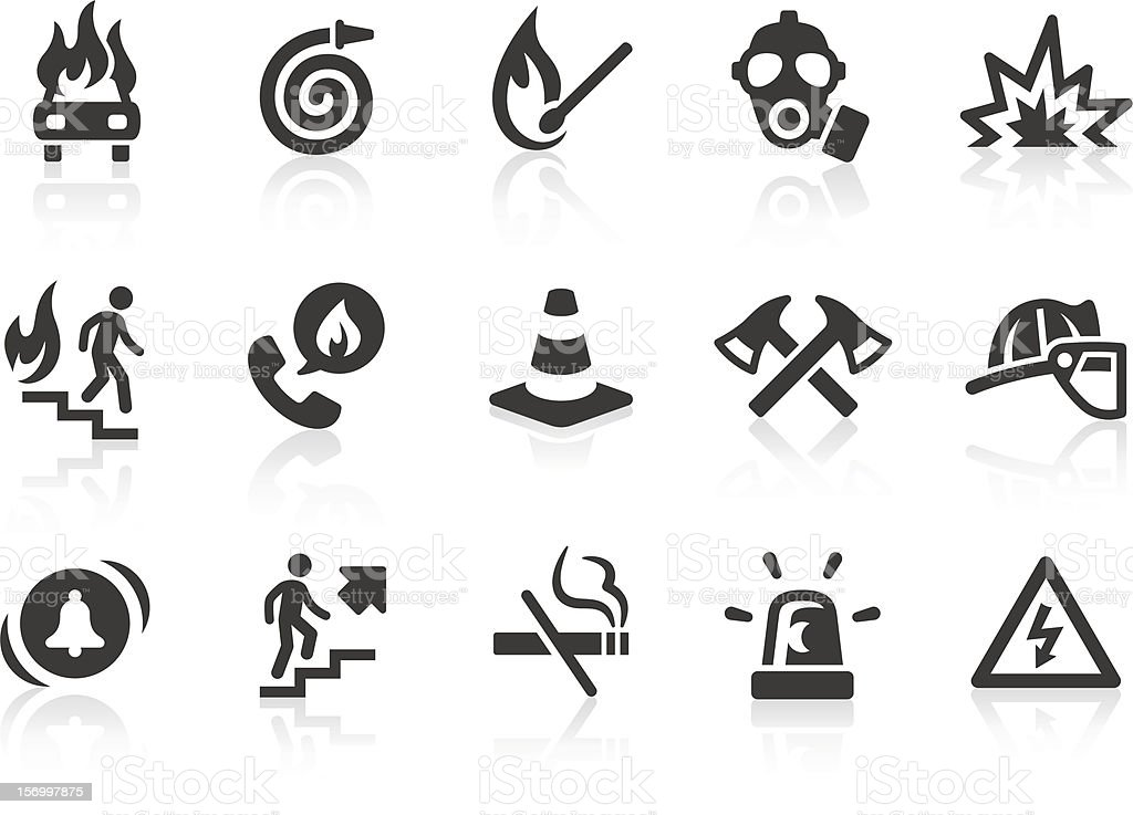 Fire Brigade icons vector art illustration