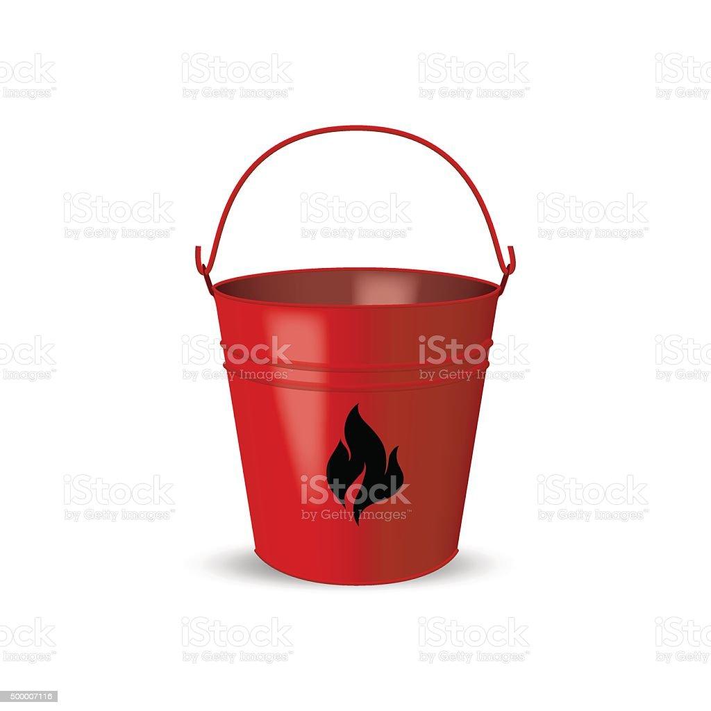 Fire bucket isolated on white background. Vector illustration. vector art illustration