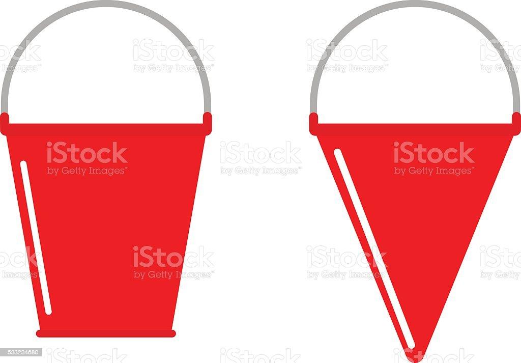 Fire bucket vector icon vector art illustration