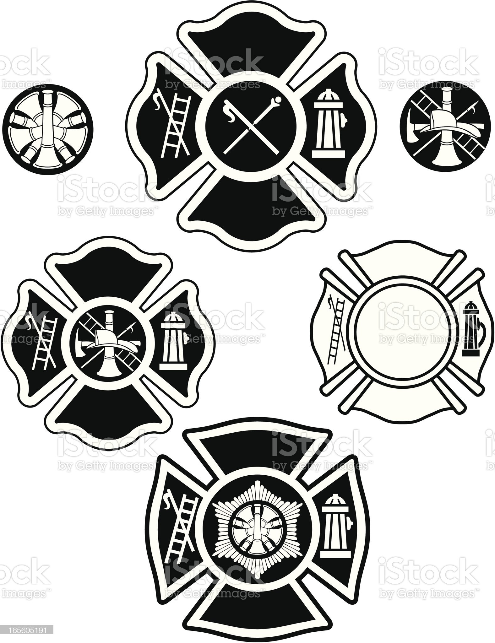 fire department emblems royalty-free stock vector art