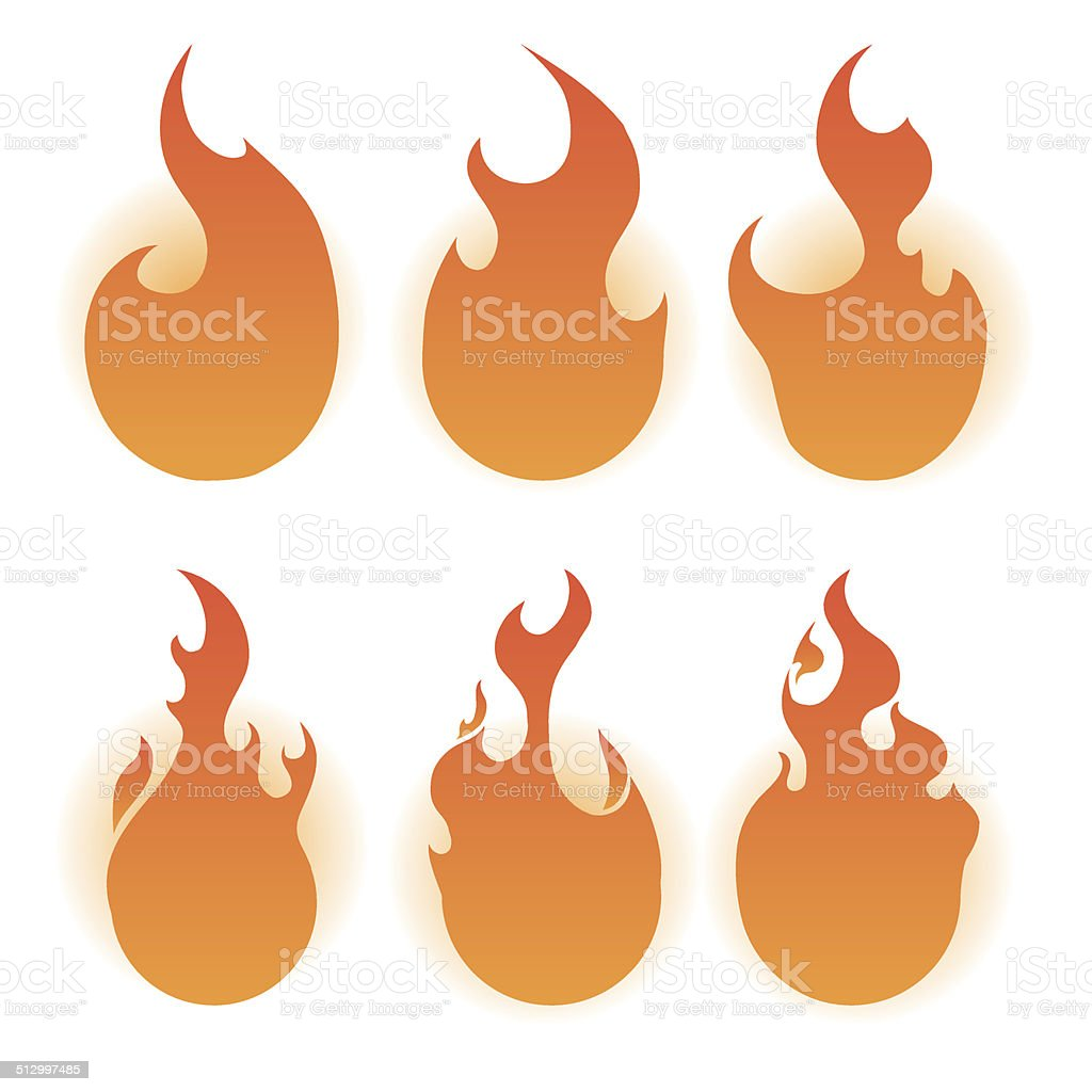 fire design vector art illustration
