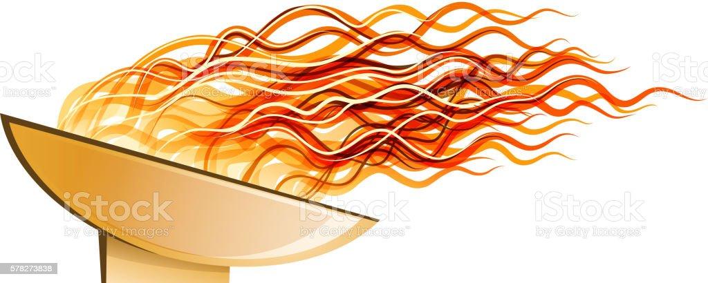 fire design vector art illustration