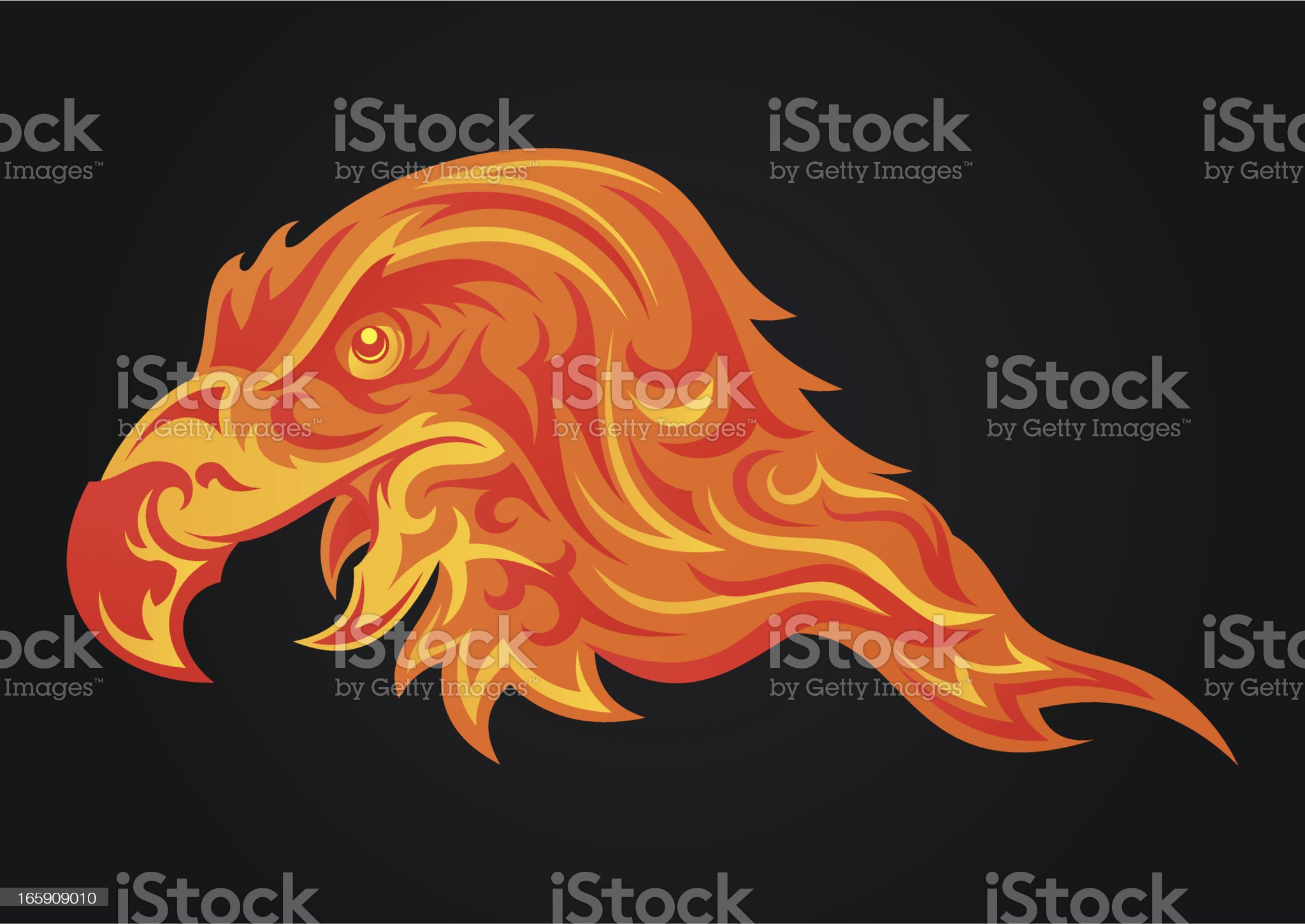 Fire eagle royalty-free stock vector art