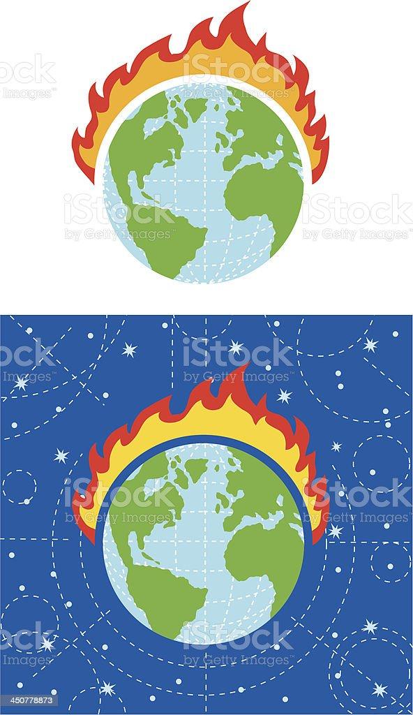 Fire Earth royalty-free stock vector art