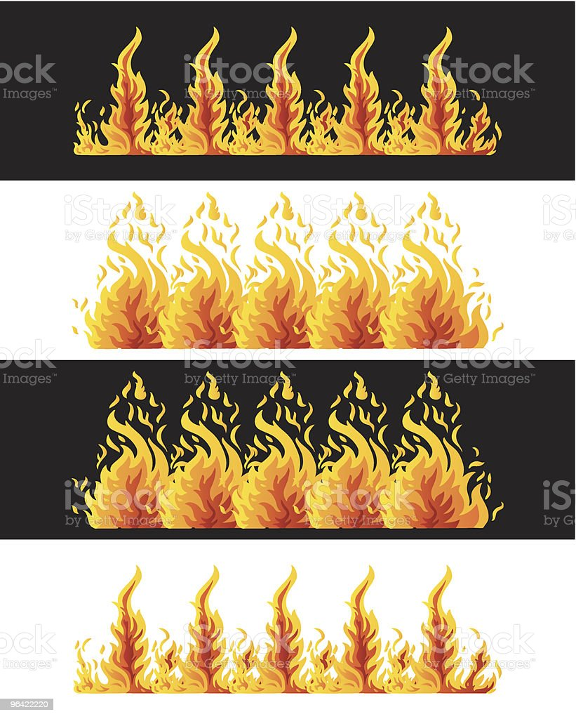Fire Elements royalty-free stock vector art