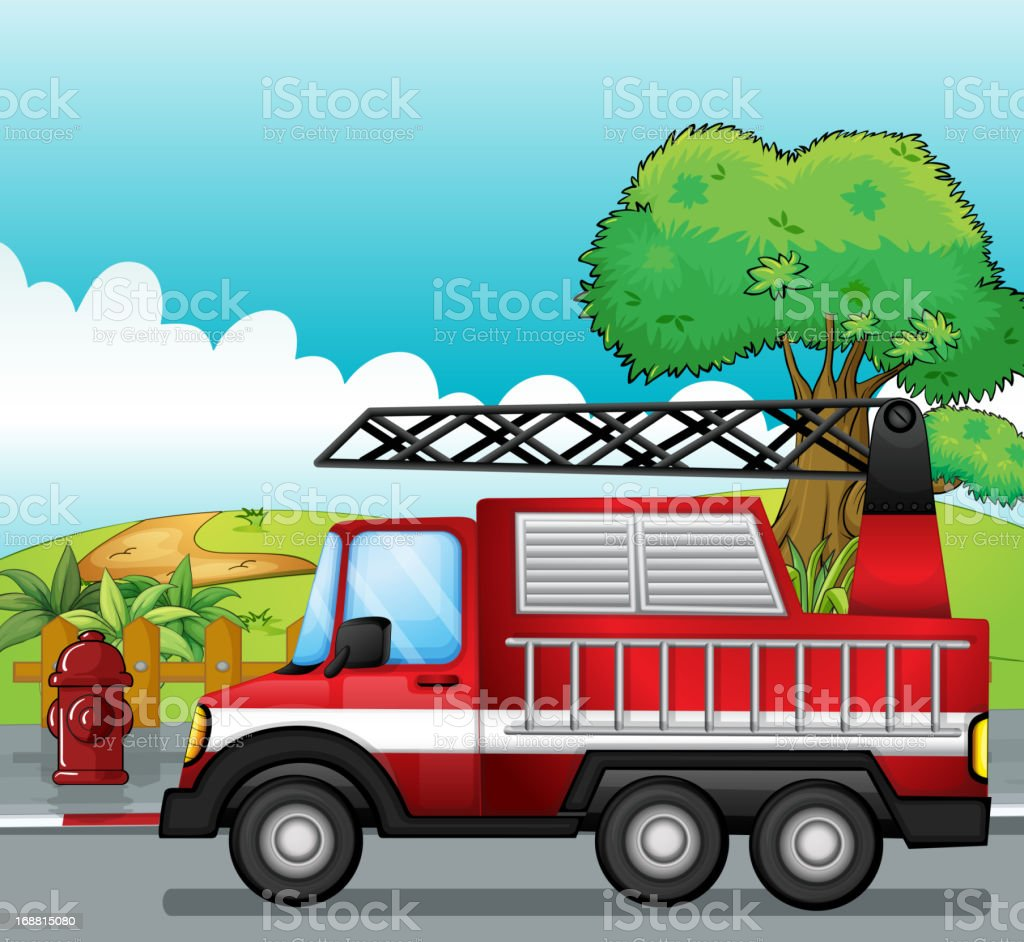 Fire engine royalty-free stock vector art