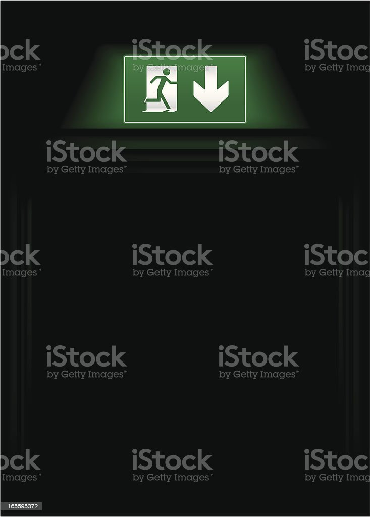 Fire exit DP royalty-free stock vector art