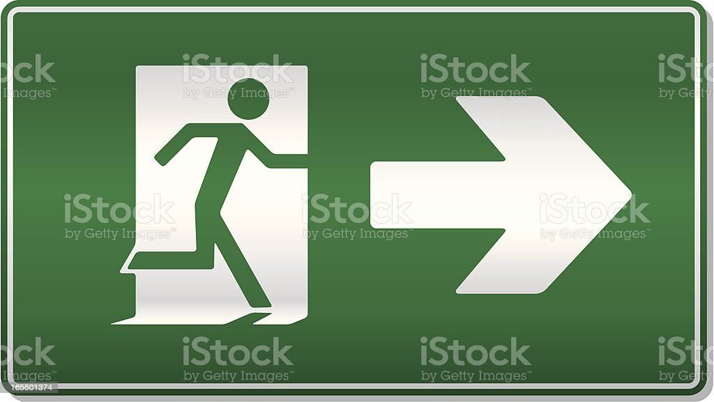 Fire exit right royalty-free stock vector art