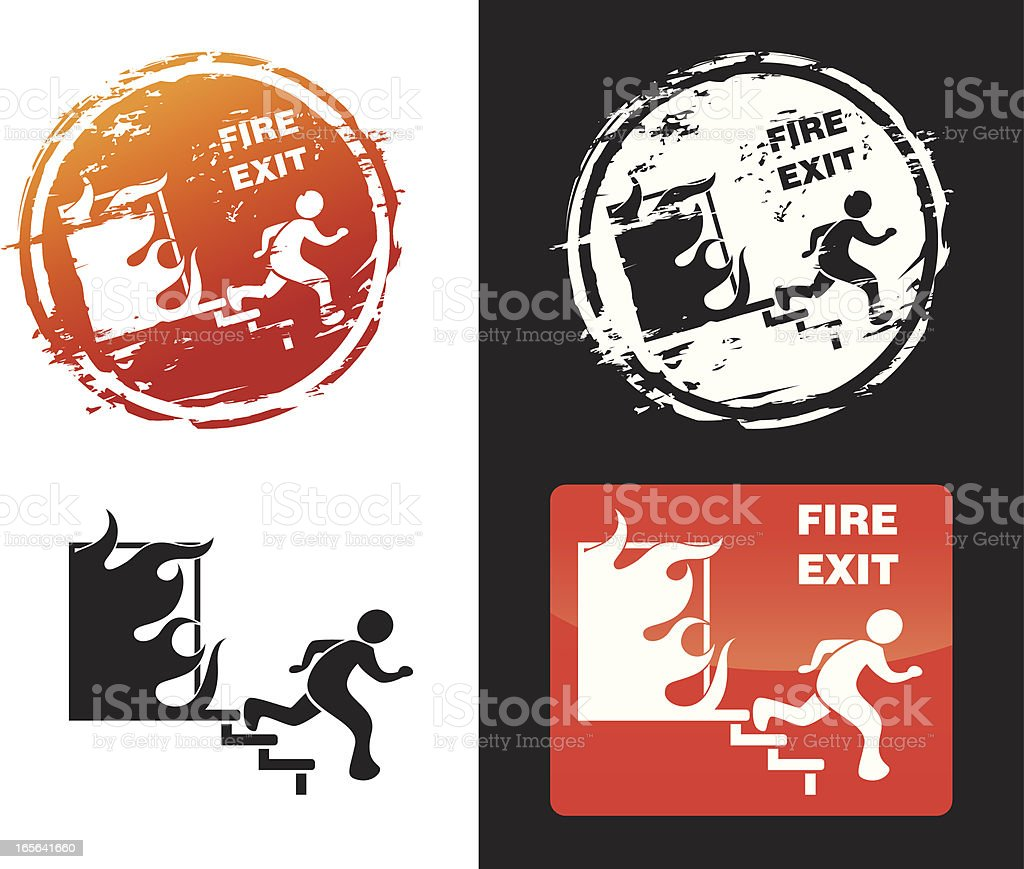 Fire exit sign royalty-free stock vector art