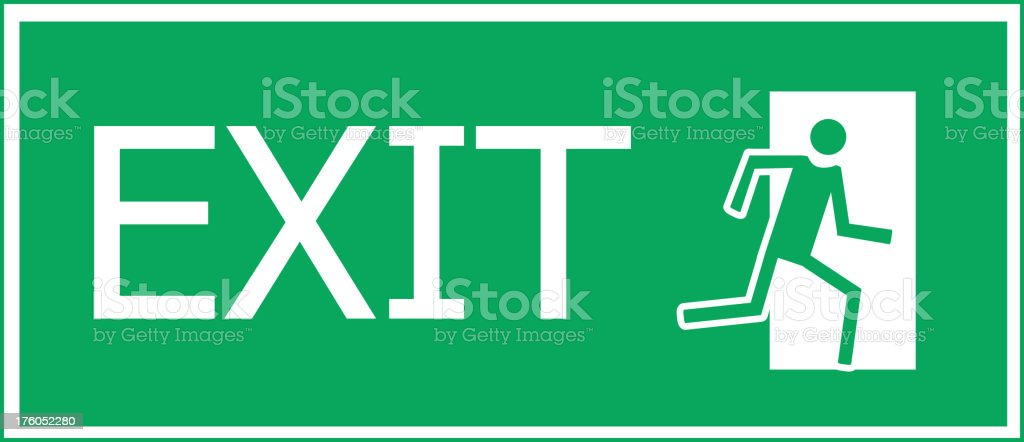 Fire exit. Vector illustration royalty-free stock vector art