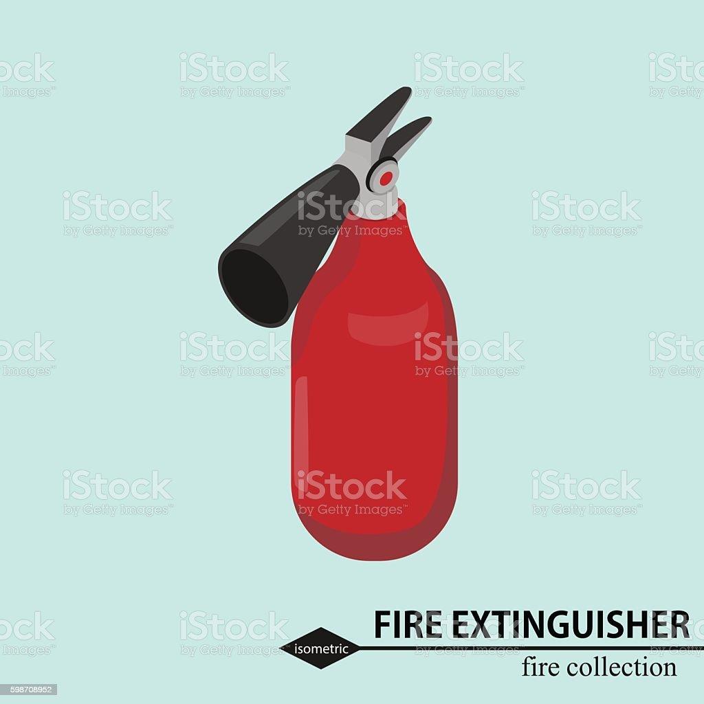 Fire extingsher for  fighting. Isometric vector illustration vector art illustration