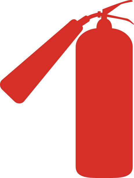 White Fire Extinguisher Clip Art, Vector Images & Illustrations ...