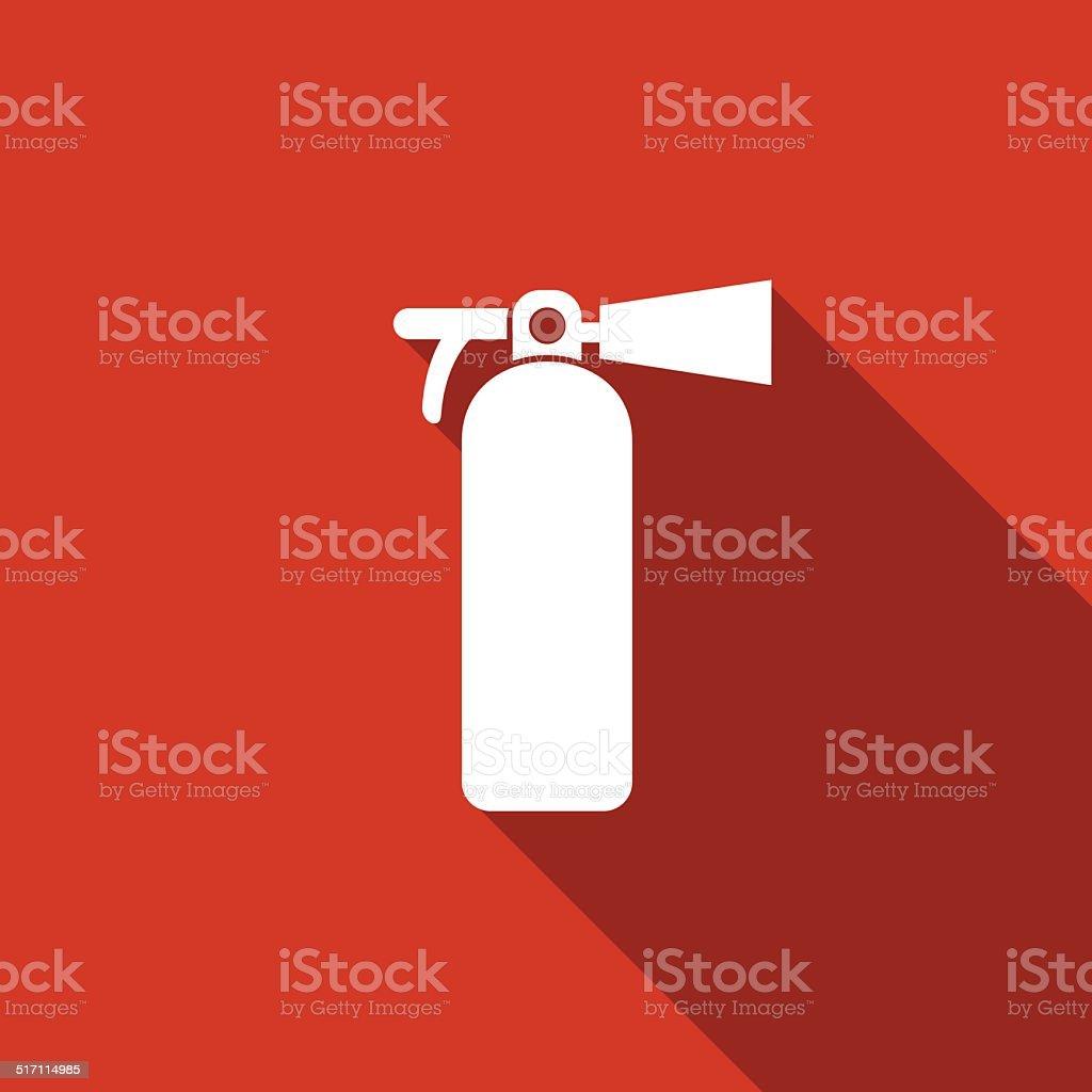 fire extinguisher icon vector art illustration