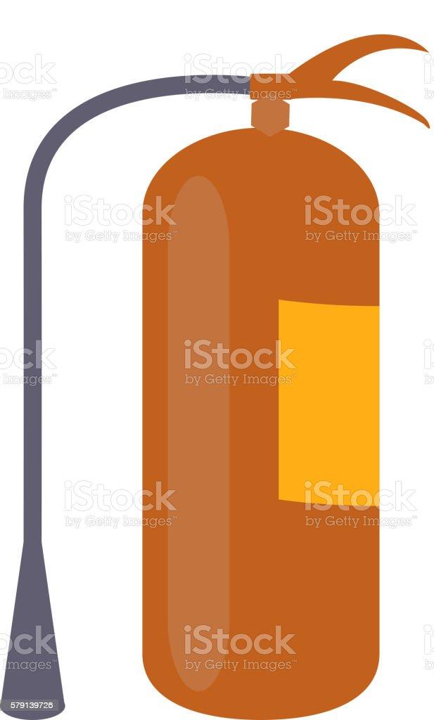 Fire extinguisher in modern flat design vector art illustration