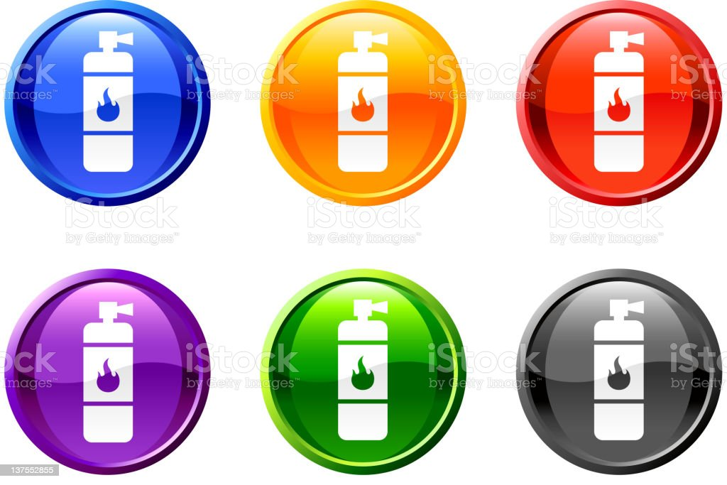 fire extinguisher royalty free vector icon set round buttons royalty-free stock vector art