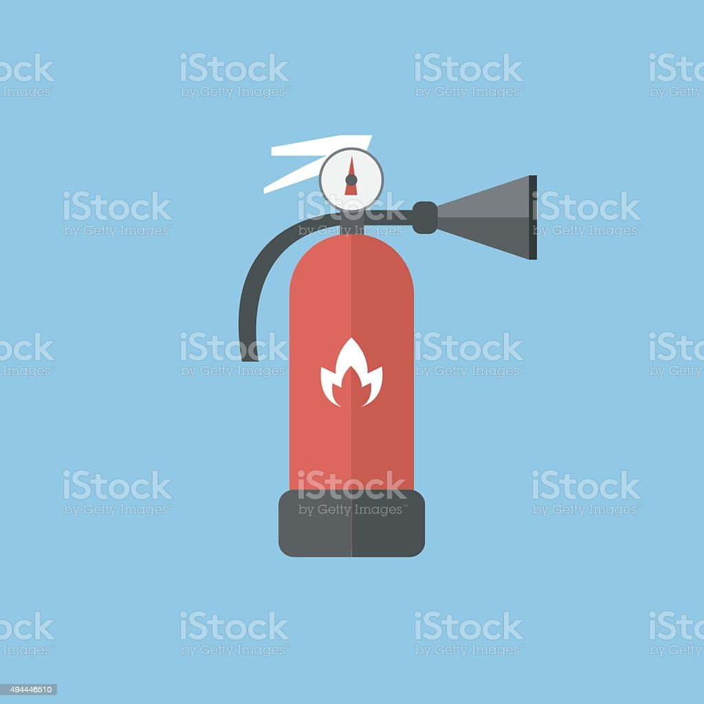 Fire extinguisher sign icon. Fire safety symbol. vector EPS10. vector art illustration
