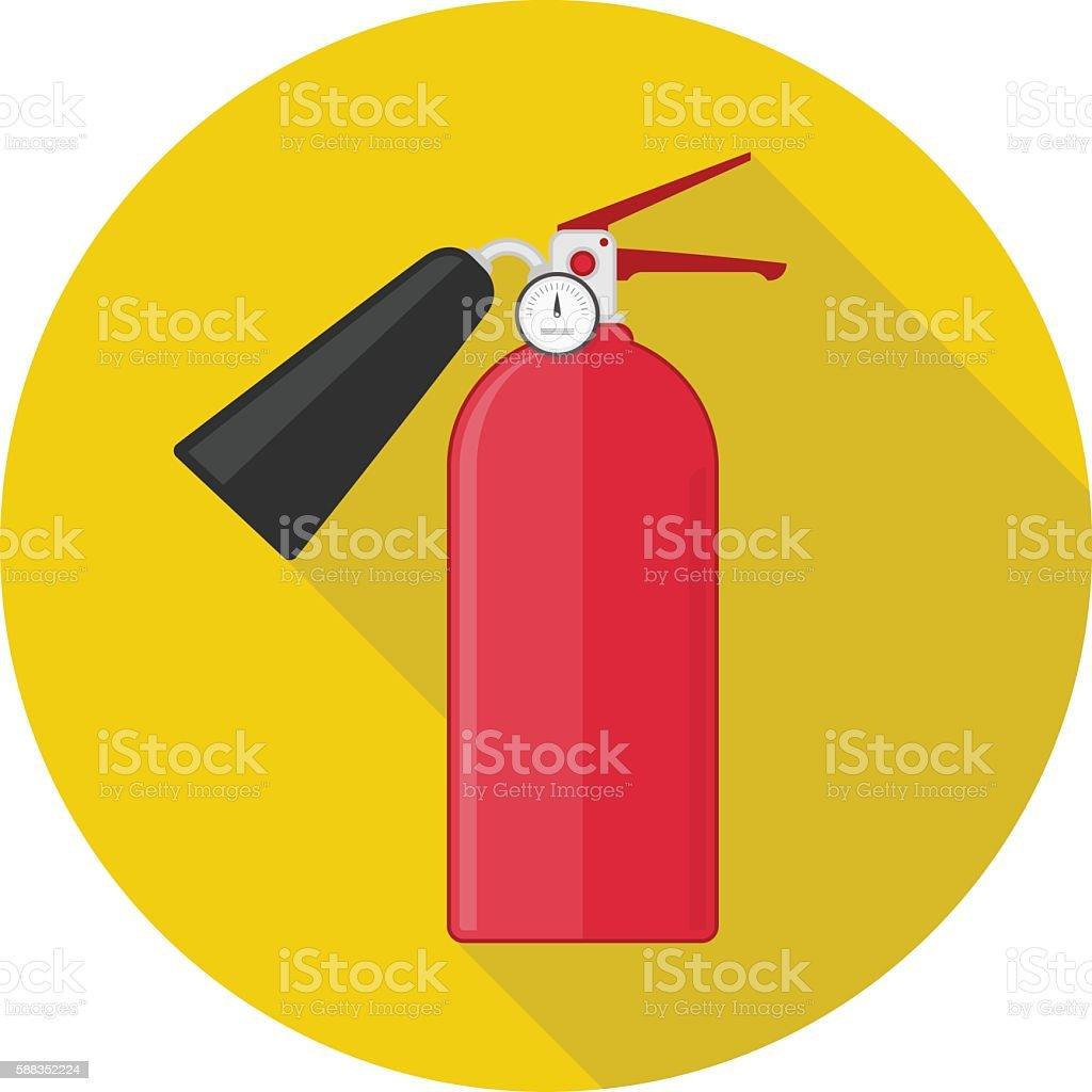 Fire extinguisher vector icon vector art illustration