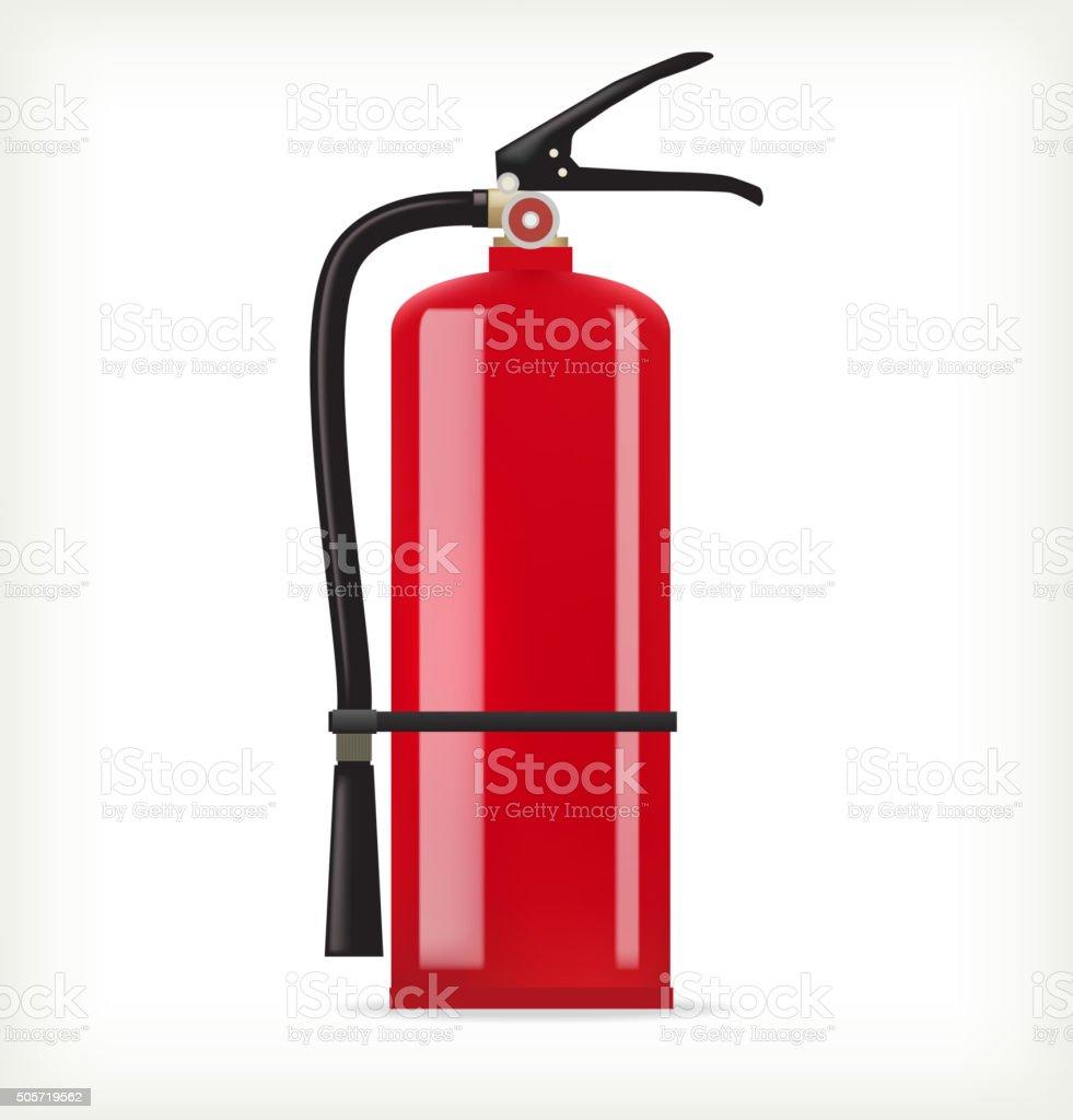 Fire extinguisher vector art illustration