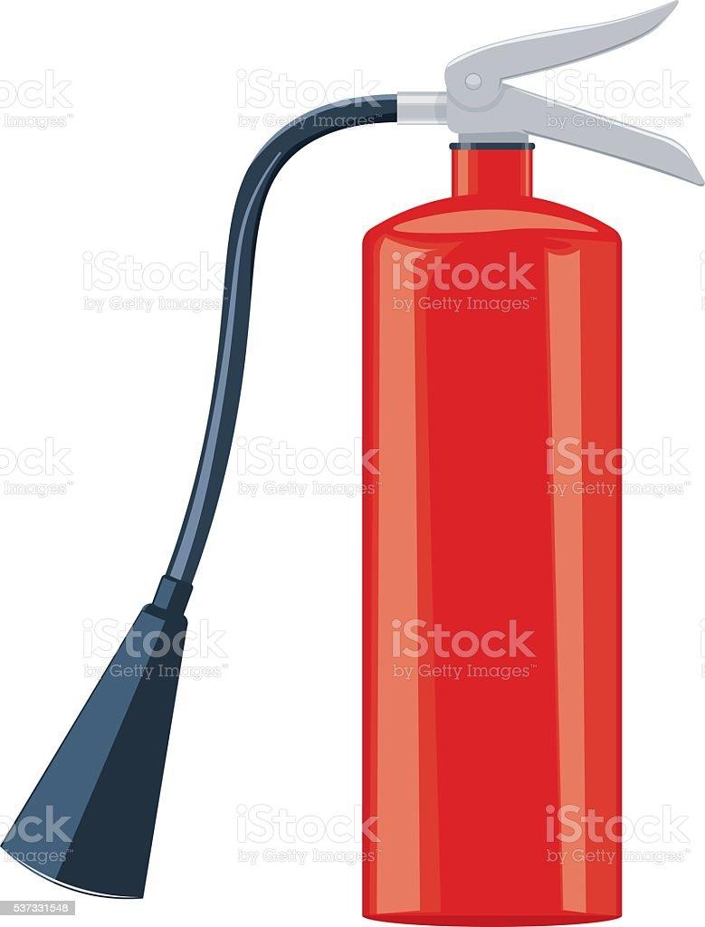 Fire extinguisher vector illustration isolated on white background vector art illustration