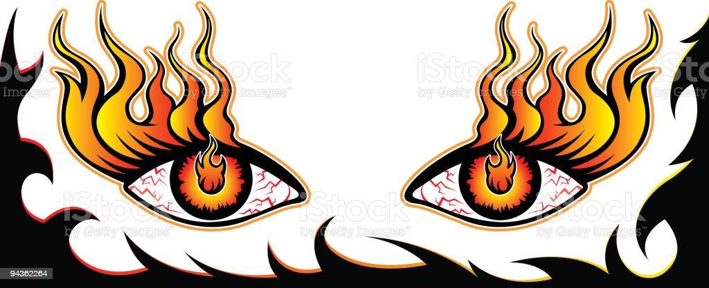 Fire Eyes royalty-free stock vector art