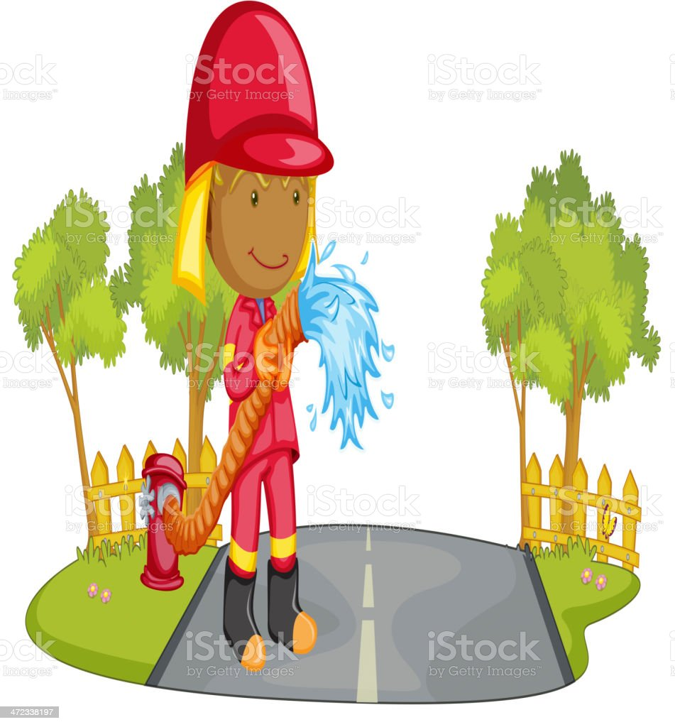 Fire fighter royalty-free stock vector art