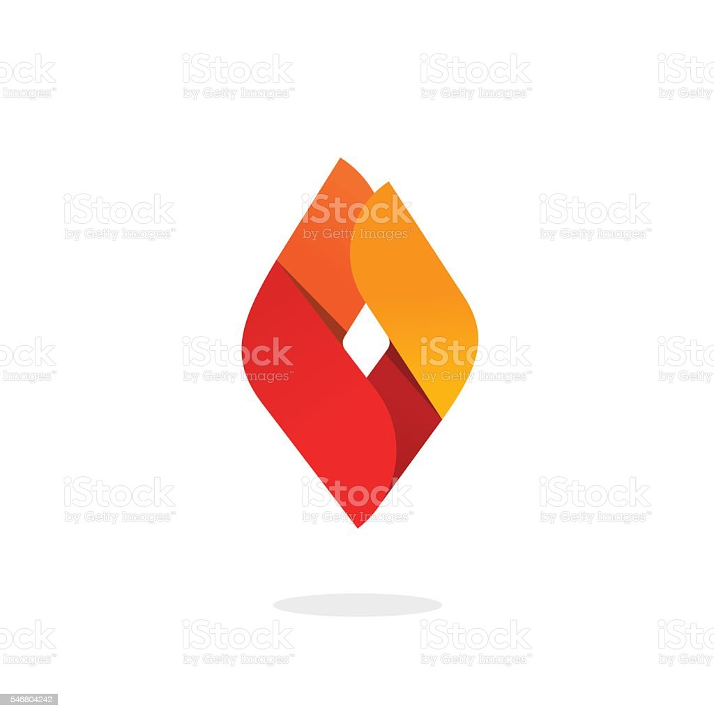 Fire flame logo vector, abstract ignite energy icon, blaze brand vector art illustration