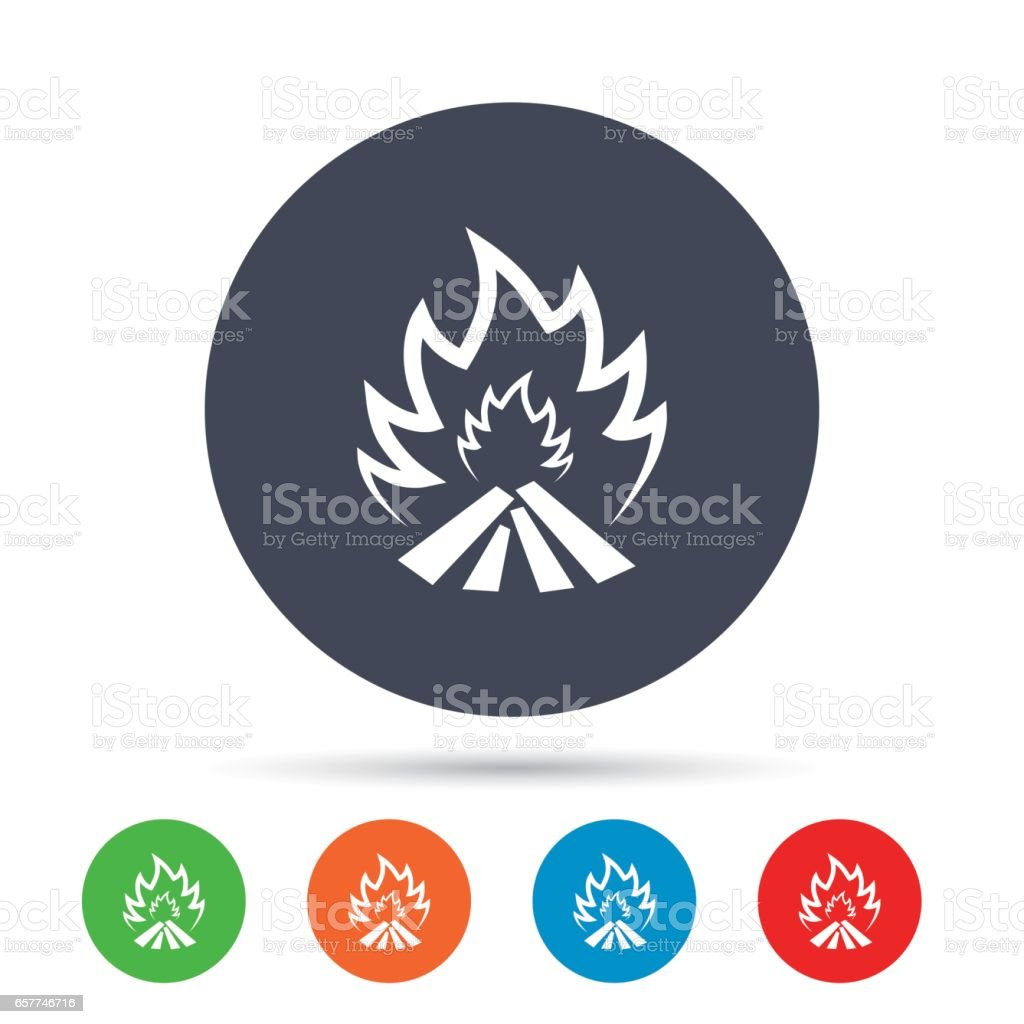 Fire flame sign icon. Heat symbol. vector art illustration