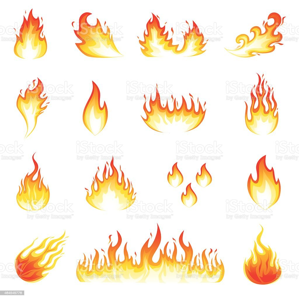 Fire Flames vector art illustration