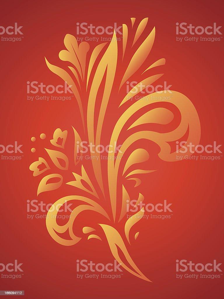 Fire flower royalty-free stock vector art