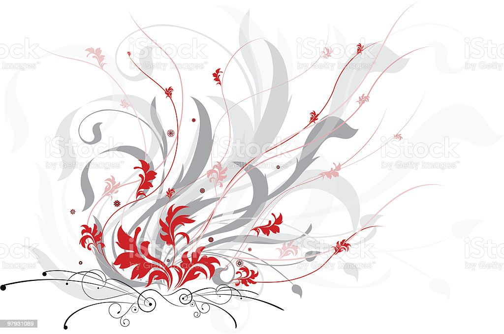 Fire flowers royalty-free stock vector art