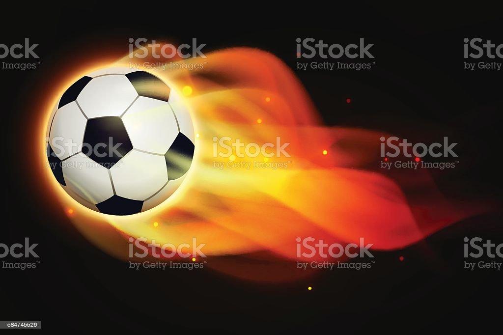 Fire football royalty-free stock vector art