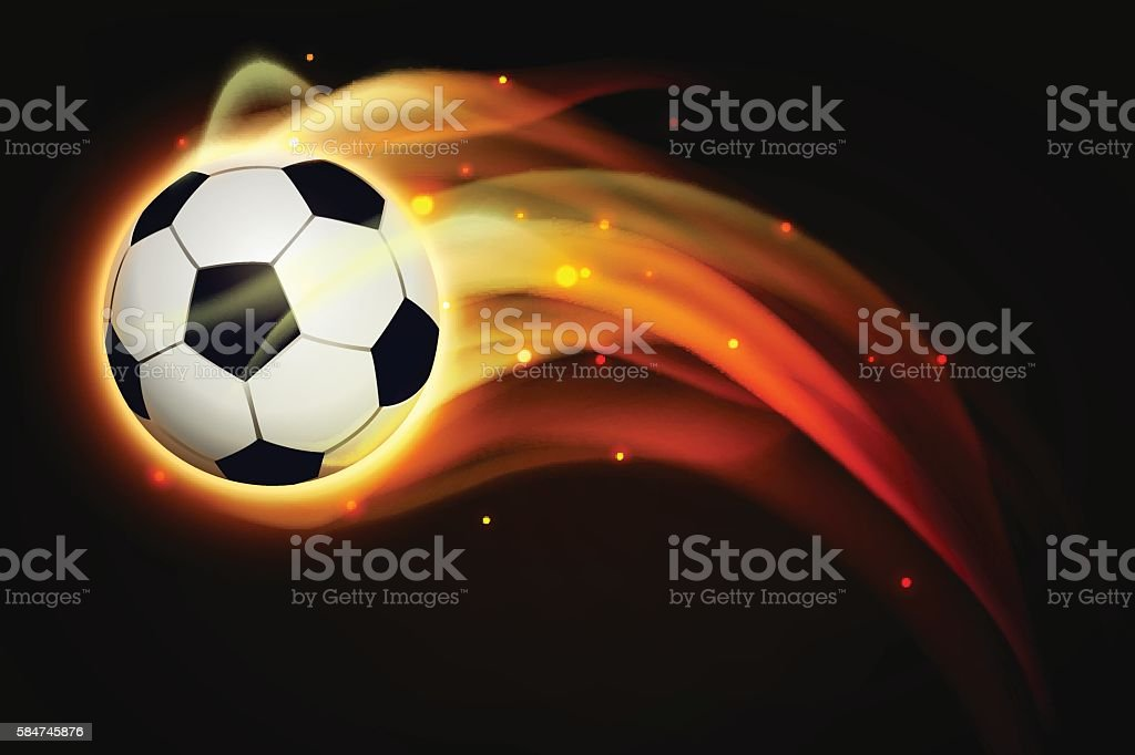 Fire football royalty-free stock vector art