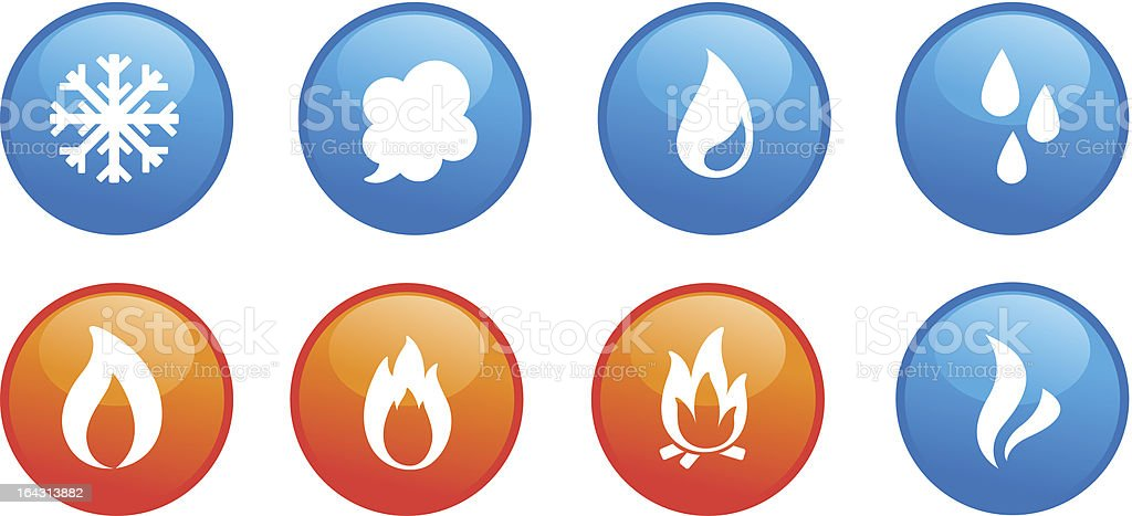 fire, freeze, steam, water royalty-free stock vector art