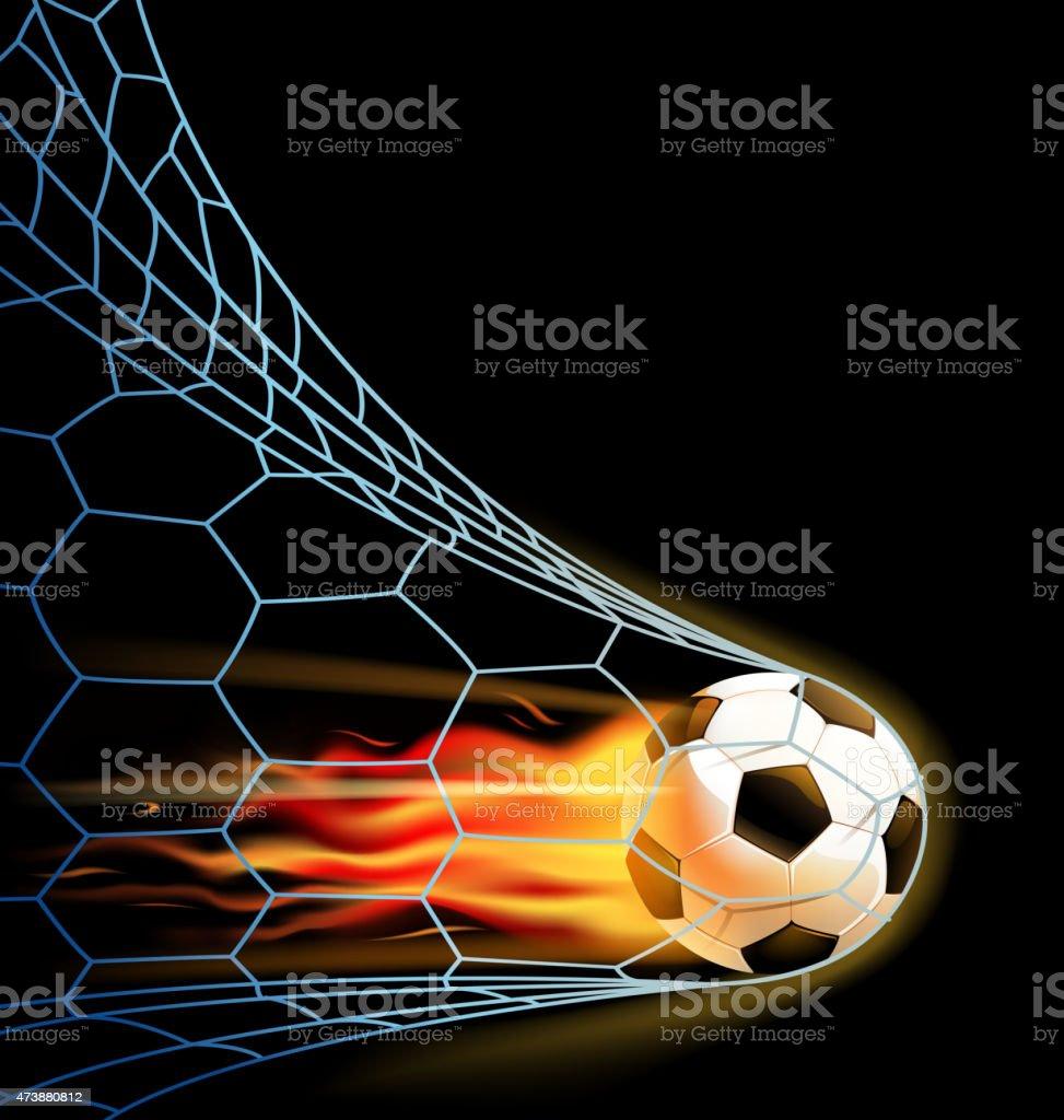 fire goal vector art illustration