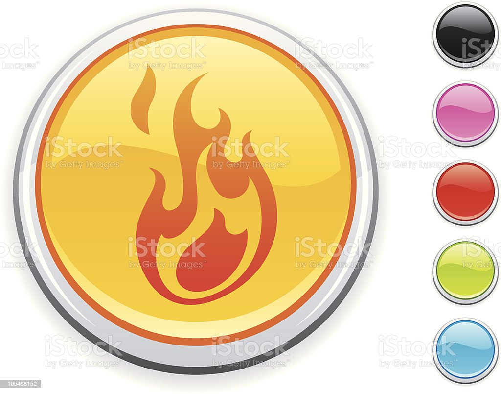 Fire icon royalty-free stock vector art